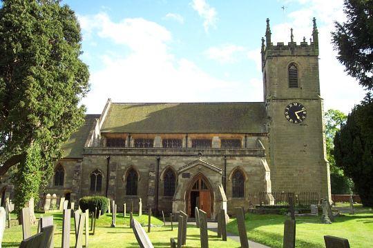 St Peter's parish church, Yoxall, Staffordshire