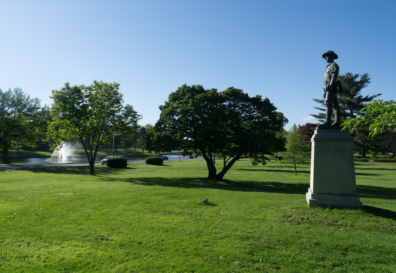 File The Hiker statue in Deering Oaks Portland Maine