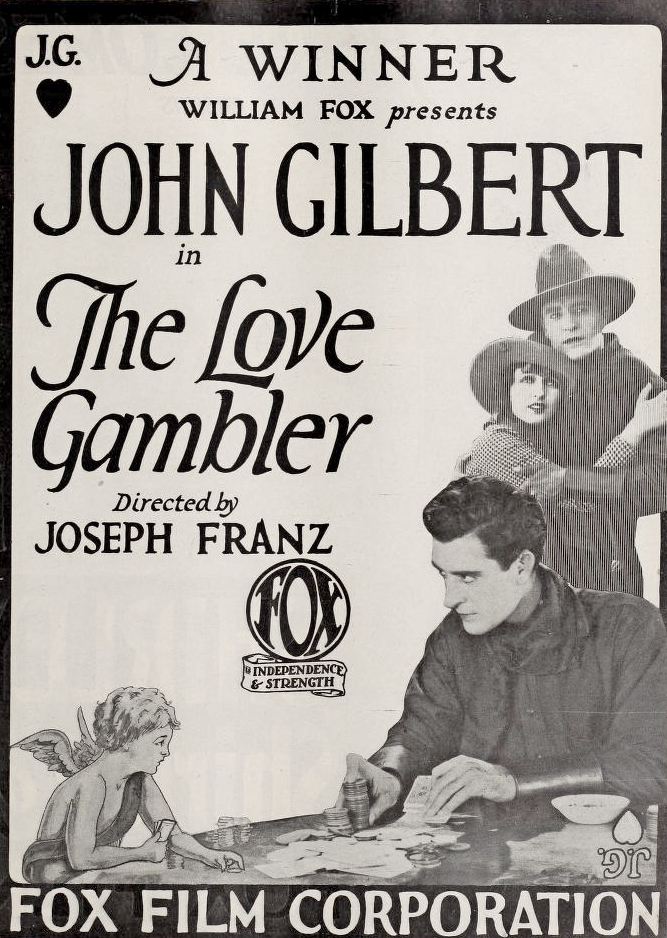 English Poster for the 1922 film The Love Gambler