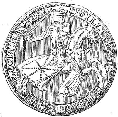 Dibujo del sello de Teobaldo II