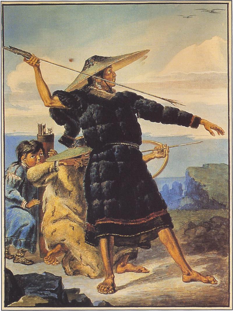 Tikhanov - Aleut in Festival Dress in Alaska (1818).png