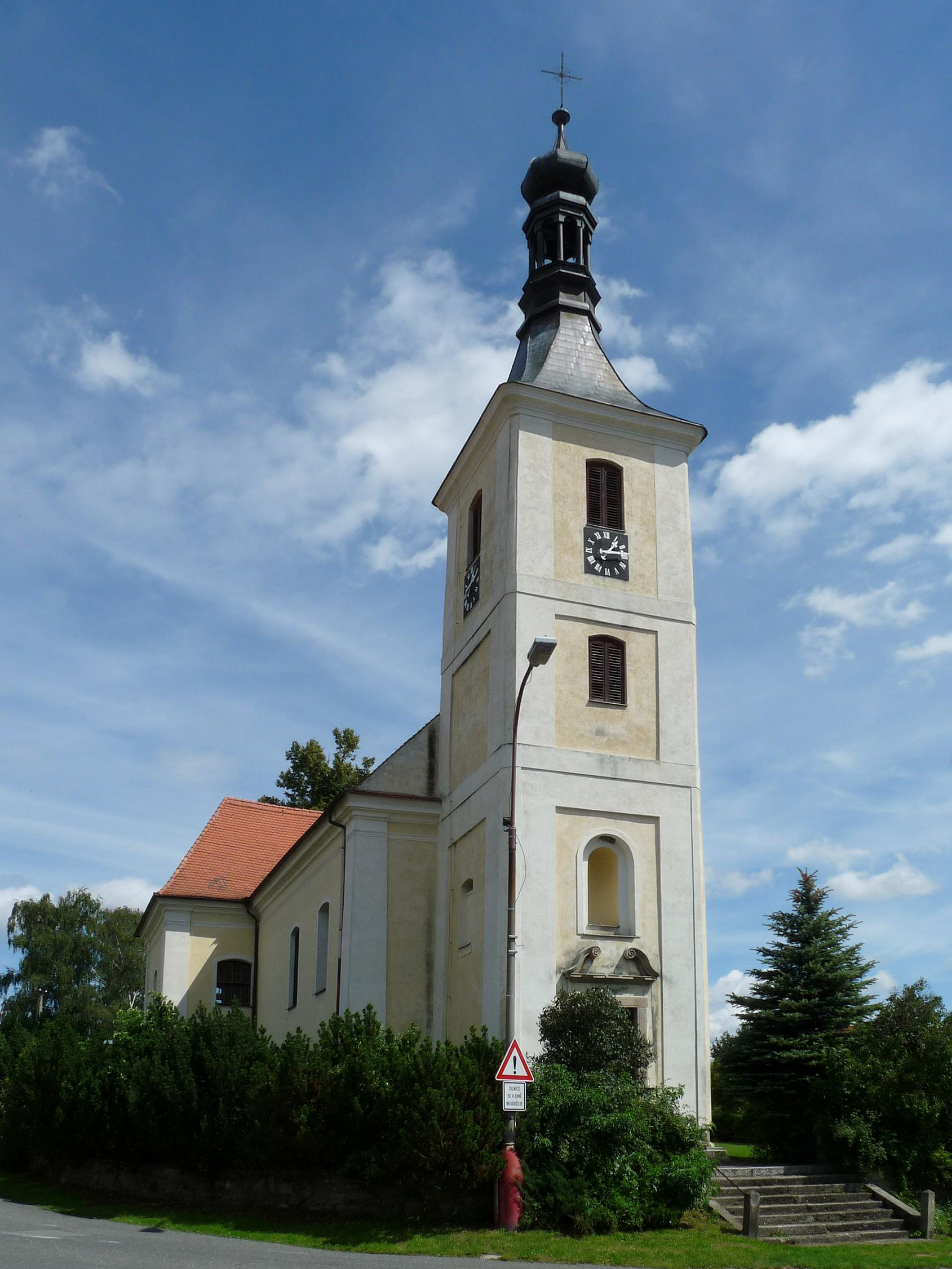 kostel svatého Jakuba Většího v Tučapech