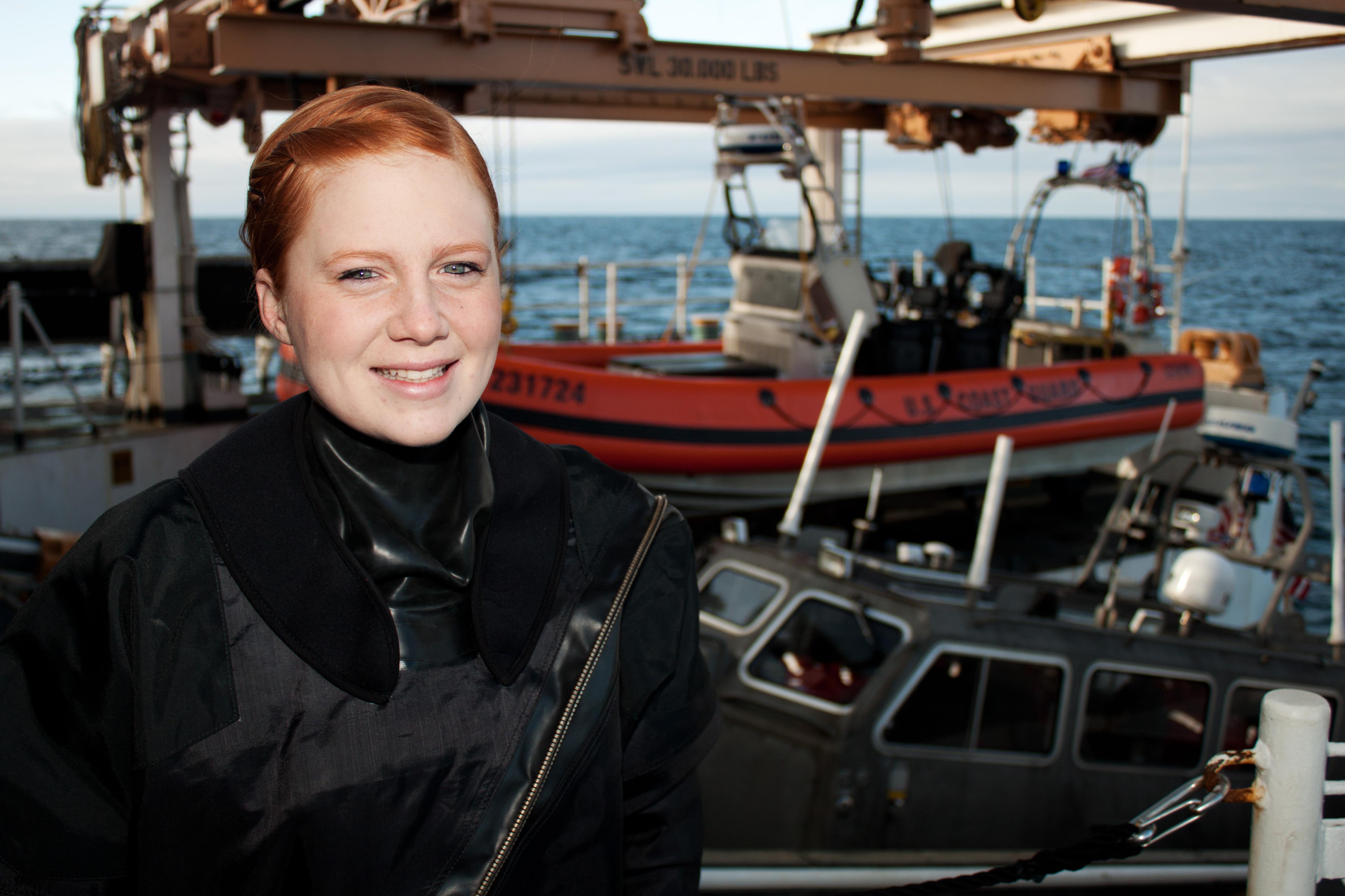 File U S Coast Guard Seaman Bailey Tooke A Deck Hand