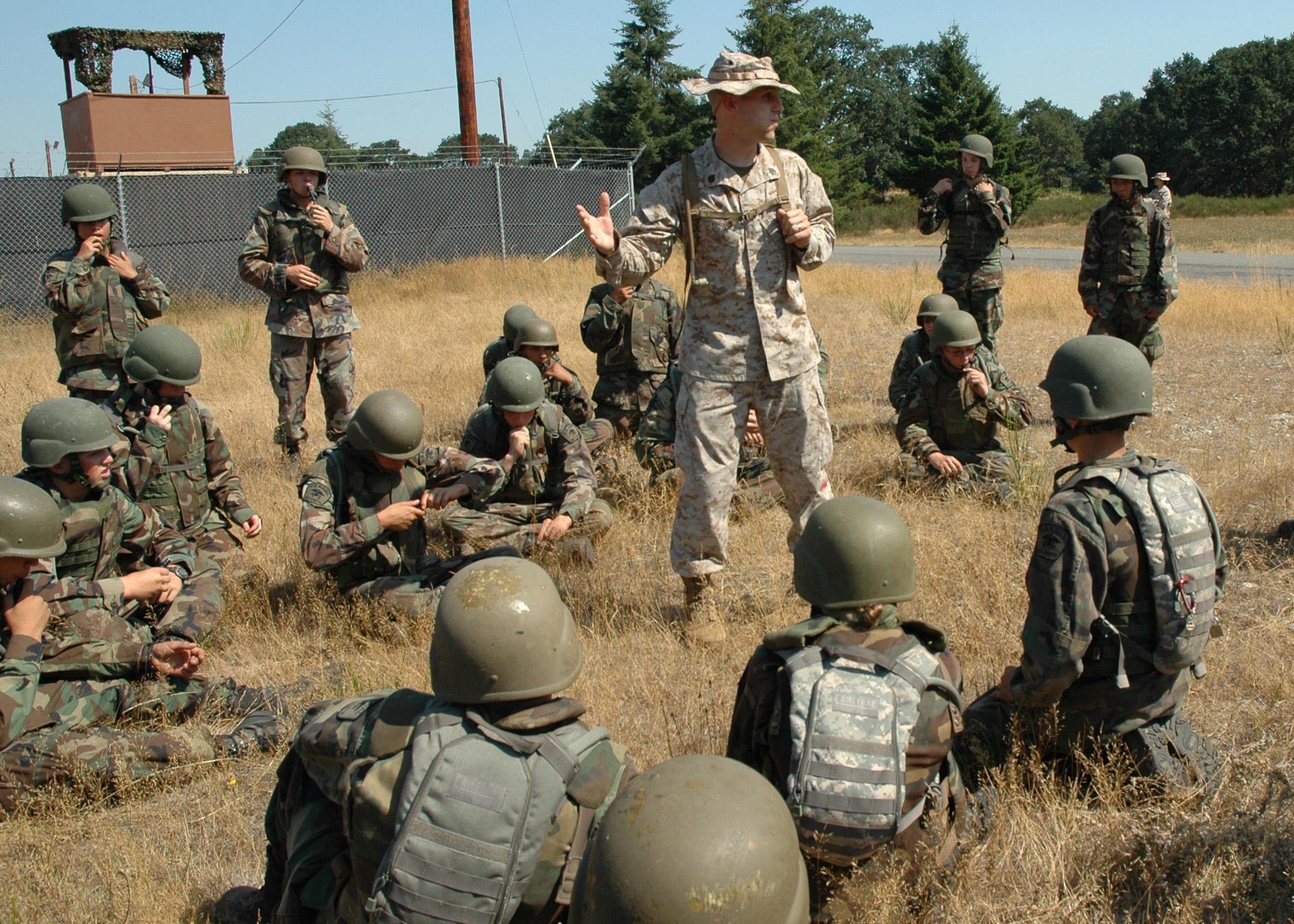 US Navy 080816-N-2296G-036 Marine Staff Sgt. Christopher Reid, a ...