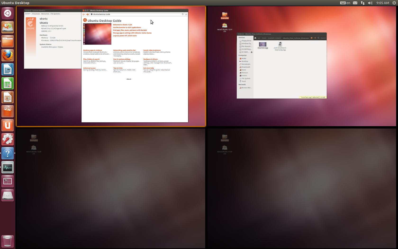 ubuntu 12.10 workspace