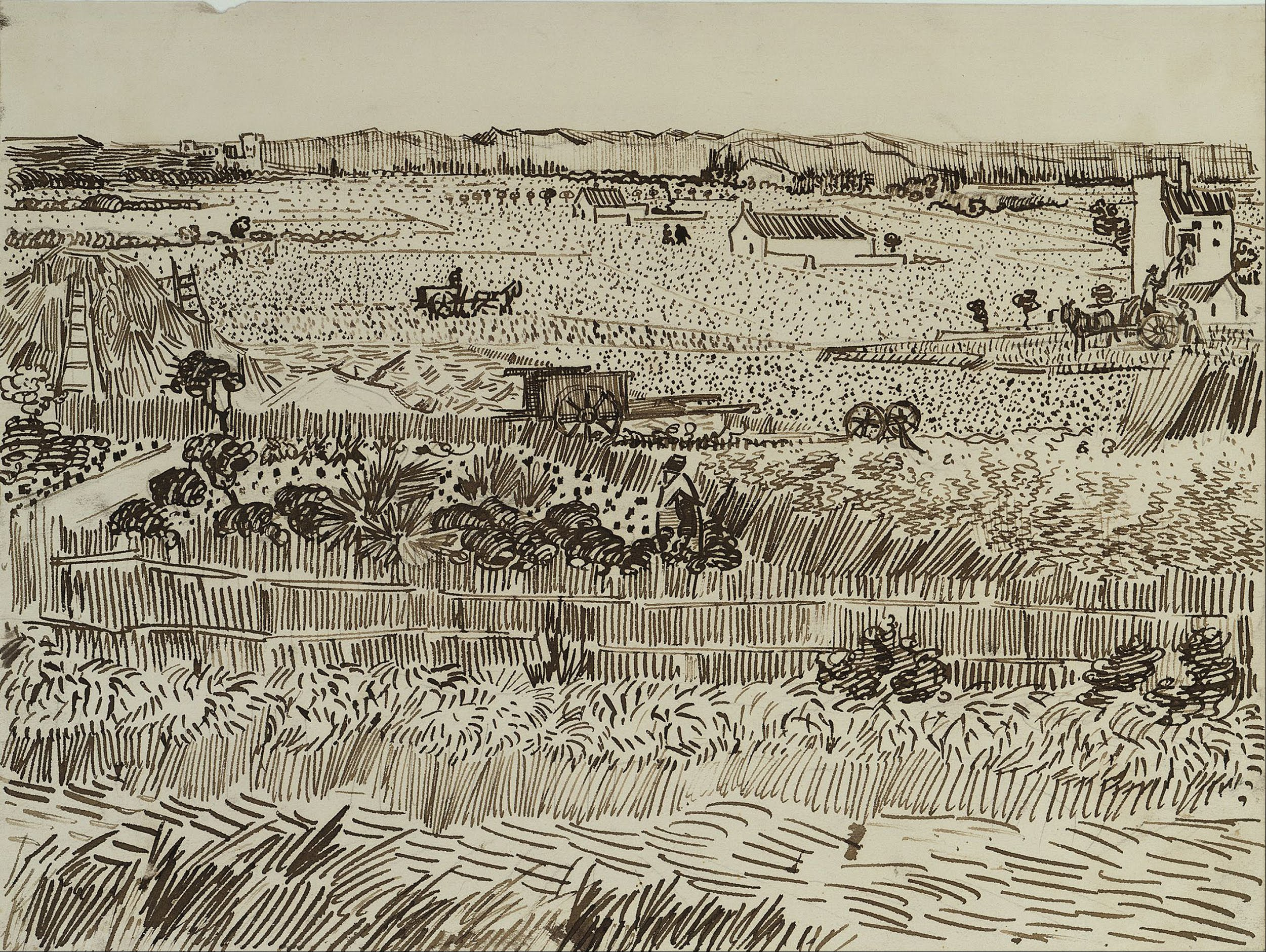 Vincent van Gogh - The Harvest (for Émile Bernard) - Google Art Project.jpg