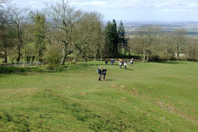 Walkers arriving at Dover's Hill along the footpath - geograph.org.uk - 747344