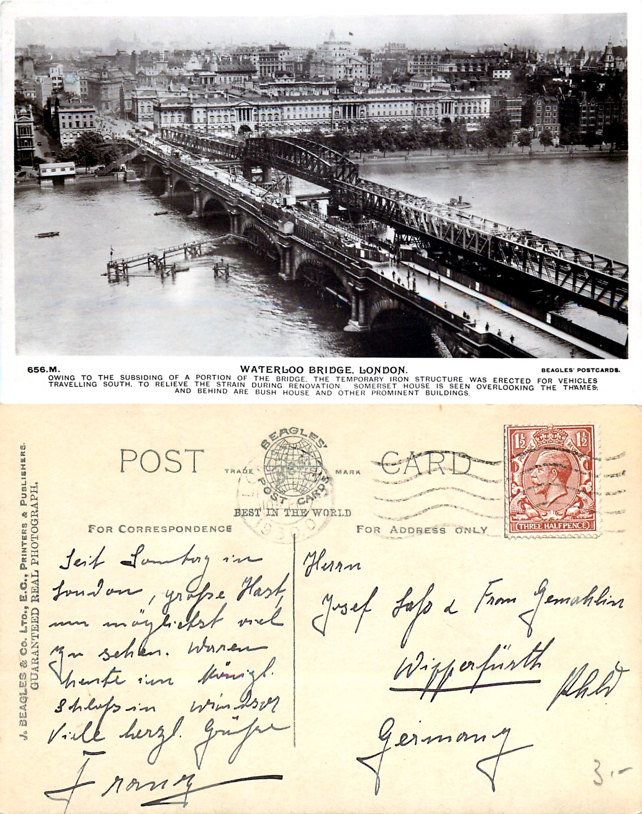 File:Waterloo Bridge, about 1925 02 jpg - Wikimedia Commons