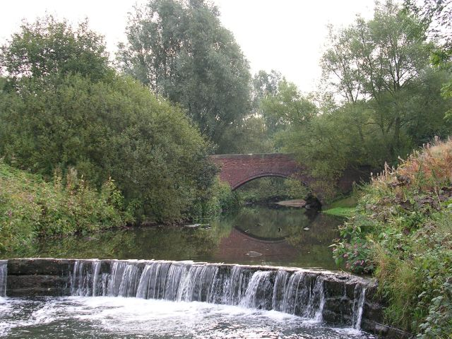Weir on the River Medlock - geograph.org.uk - 56721