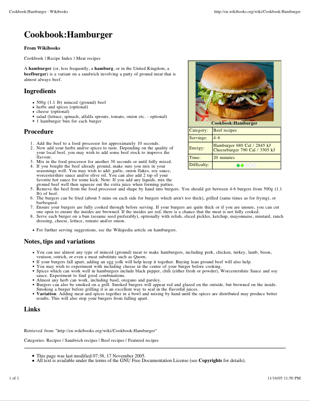 Food and beverage service standard