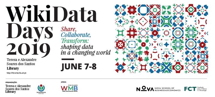 Cartel horizontal de los Wikidata Days 2019