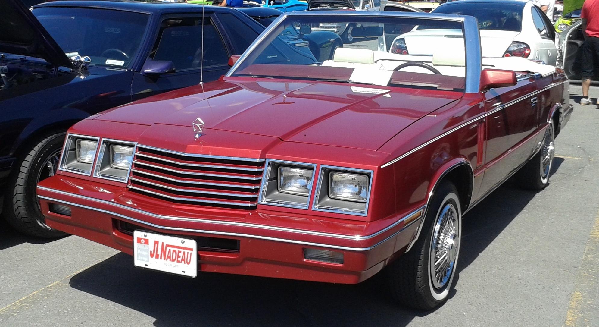 1985 dodge 600 convertible