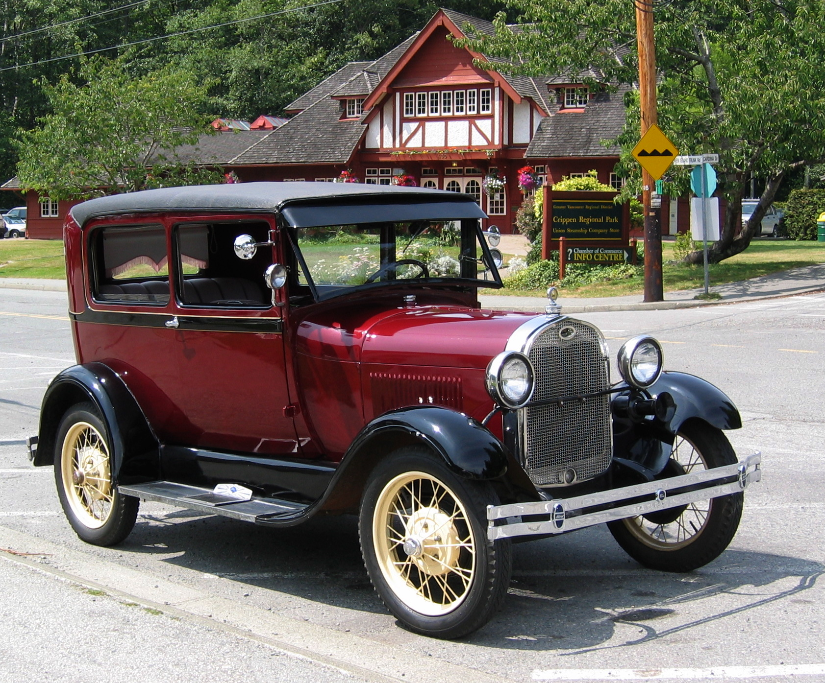 1928 ford model a tudor sedan shown for comparison note wider body and curved doors