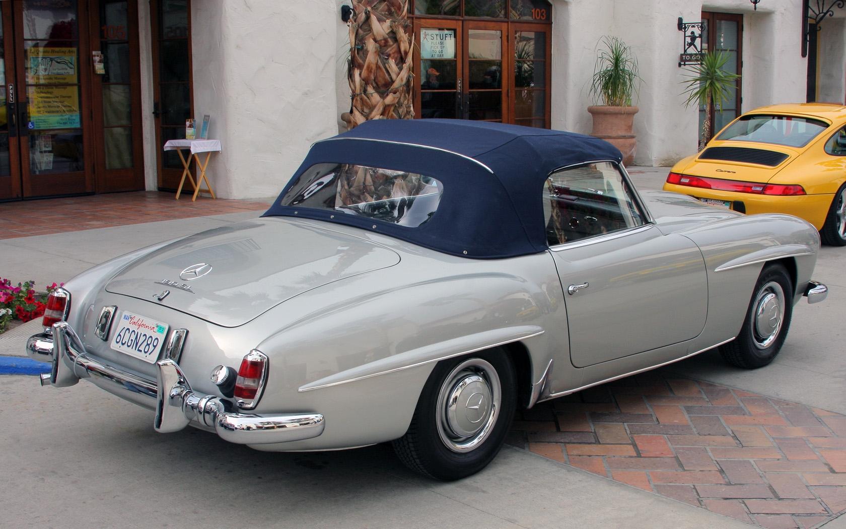 file 1961 mercedes benz 190 sl silver. Black Bedroom Furniture Sets. Home Design Ideas