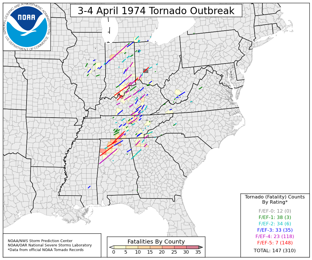 List of tornadoes in the 1974 Super Outbreak - Wikipedia