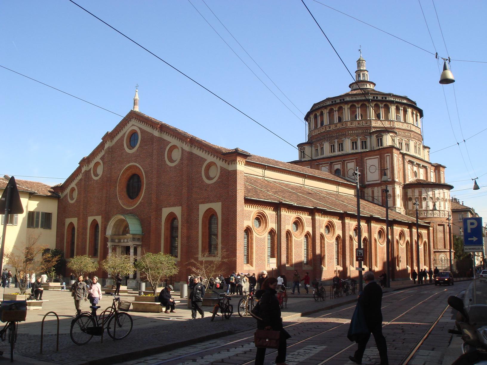 File:3048 - Milano - S. Maria delle Grazie - Facciata ...