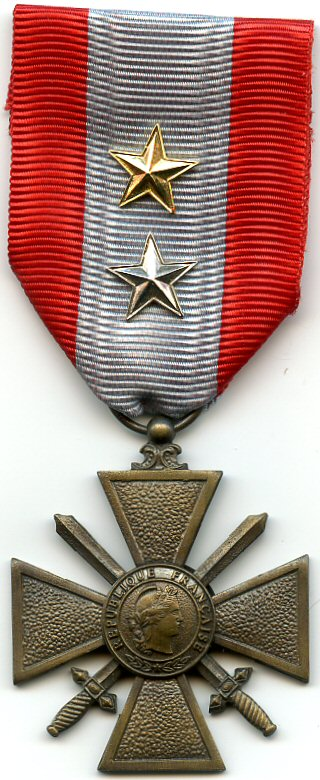 AVERS Croix de Guerre TOE France 2 citations.jpg