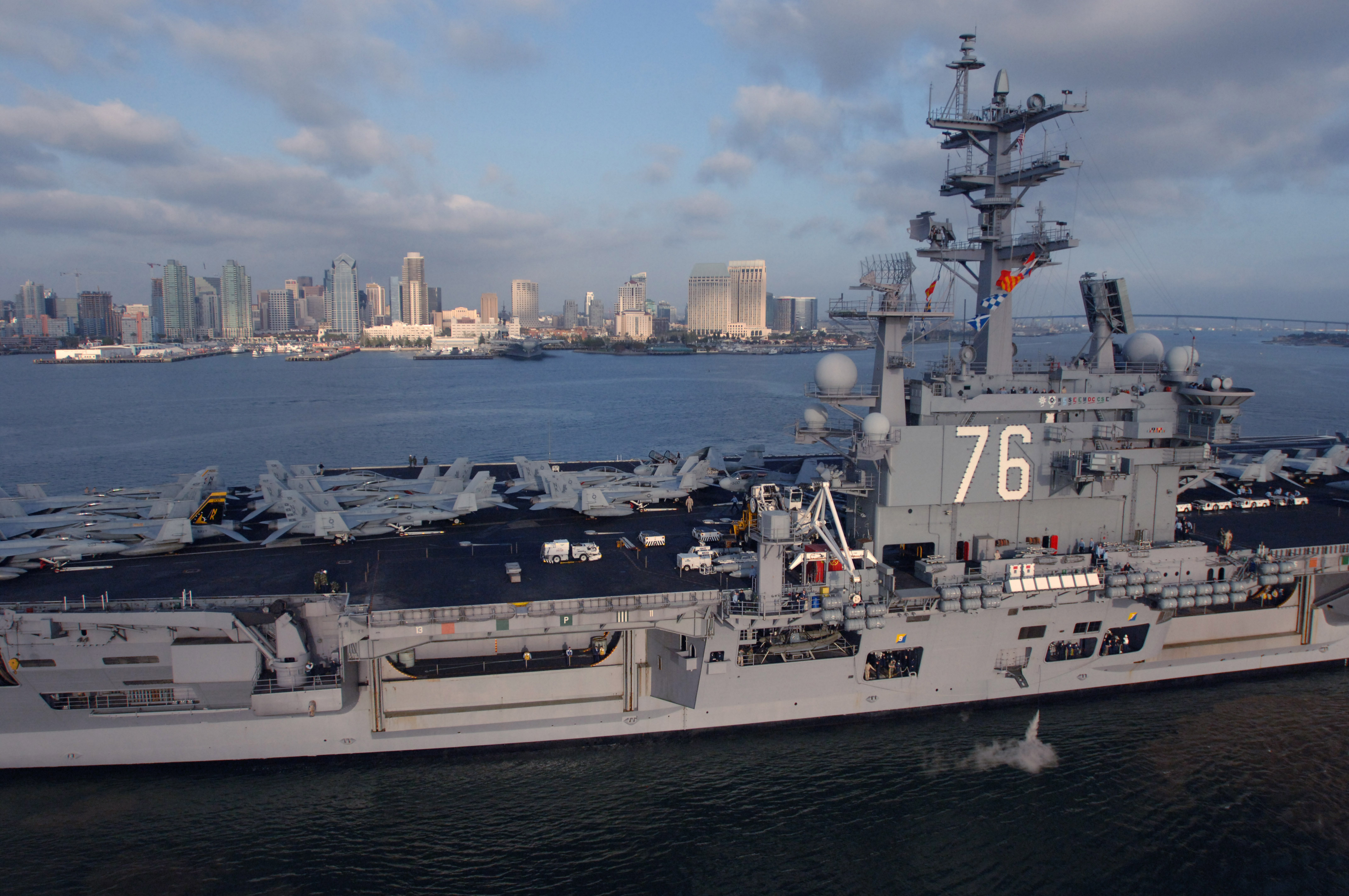 filea port side view showing the us navy nimitz class