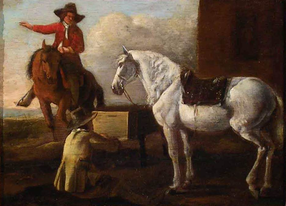 Artistic Horses Artist Painting a Horse