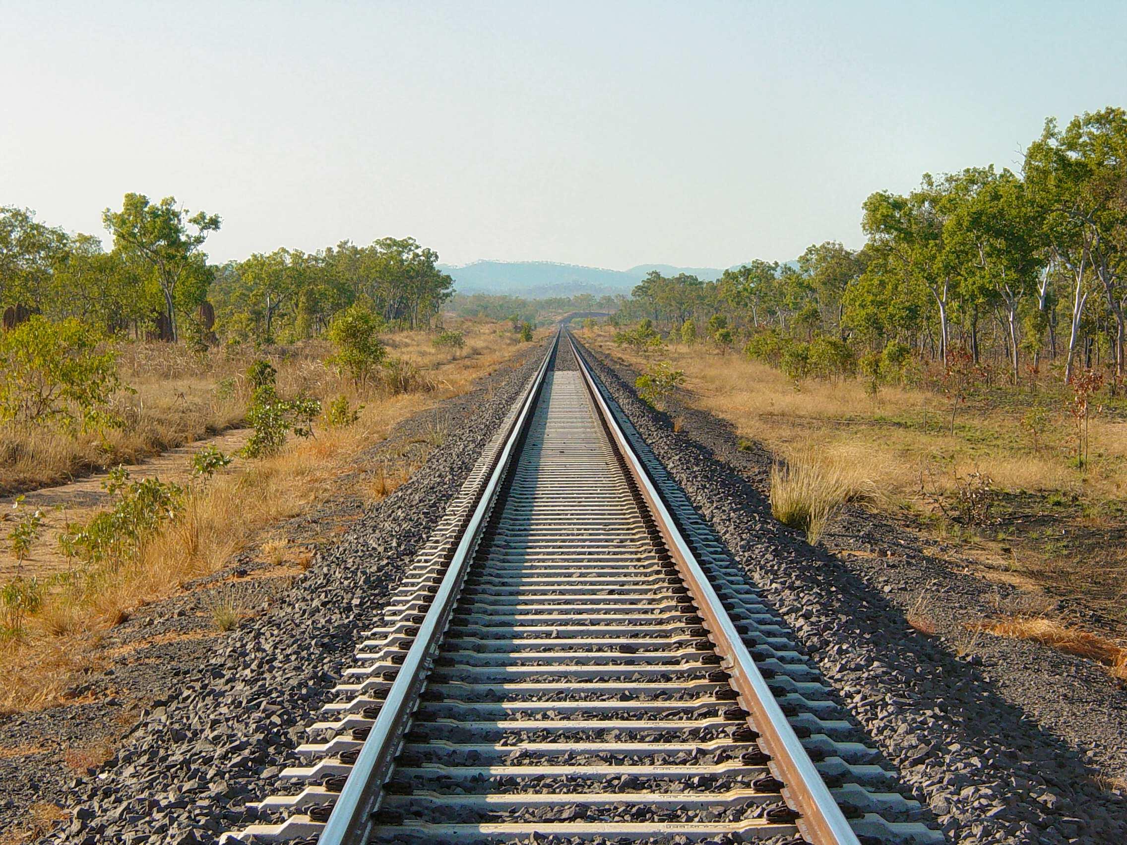 File:Adelaide Darwin Railway Line between Adelaide River ... Railway