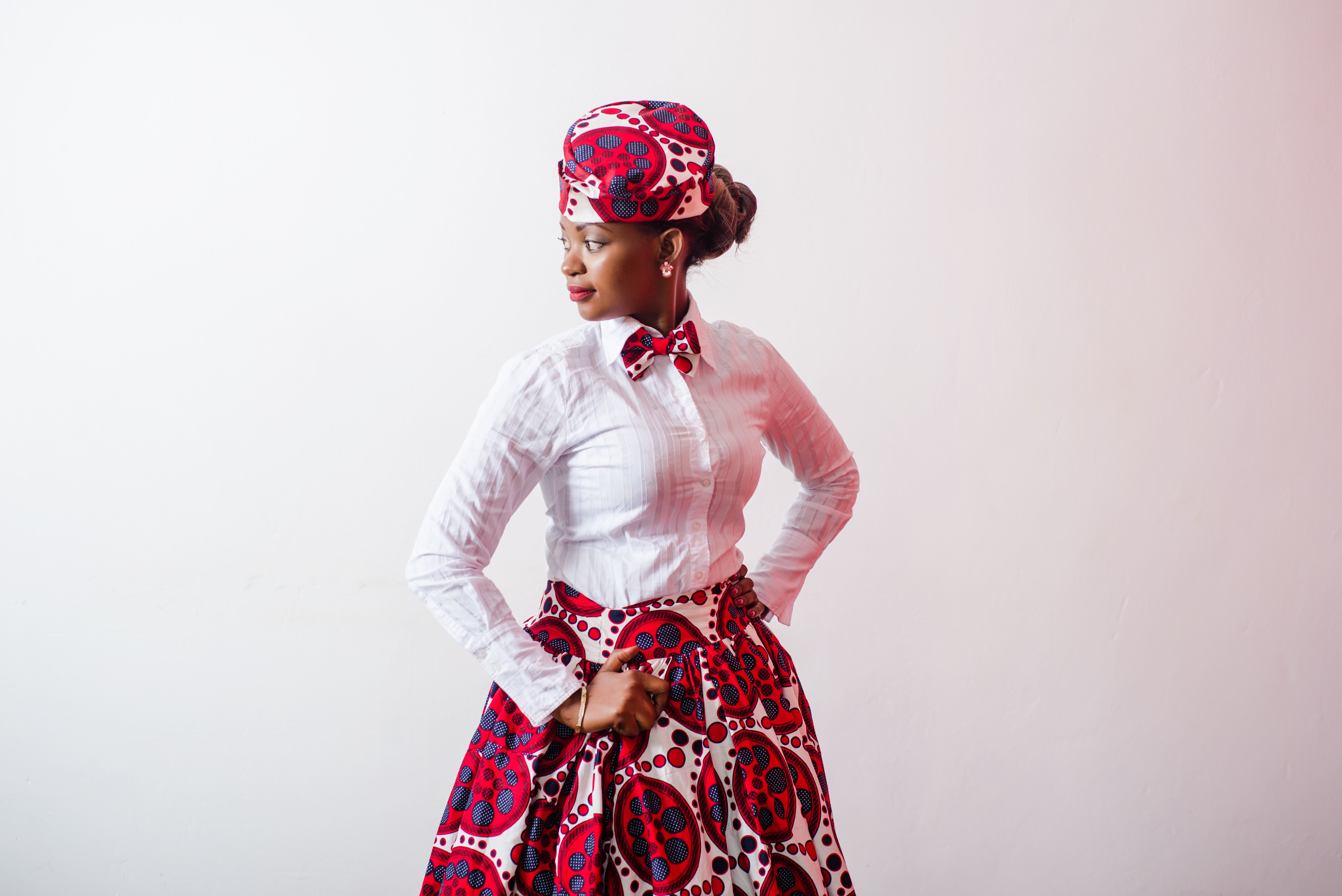 Ugandan talent. In this photo, it showcases African Fabric, tailoring, beauty and makeup artistry. Date 3 September 2015 Source Own work Author Stellar Kiwanuka