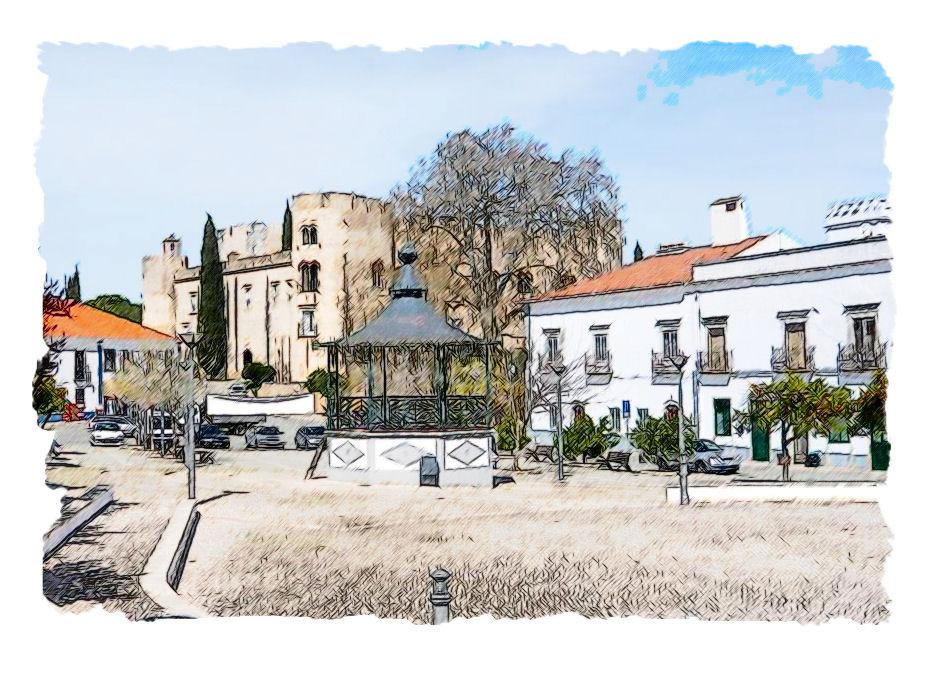 Alvito Portugal  city images : Description Alvito Alentejo Portugal en aquarelle 2515867736