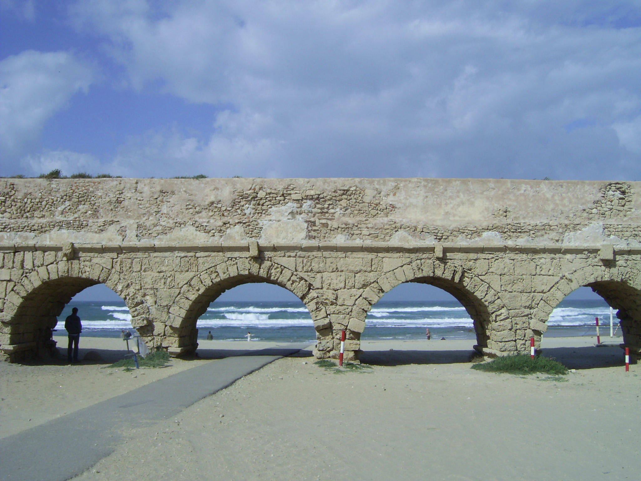 Caesarea Israel  city photos : Description Aqueduct, Caesarea, Israel