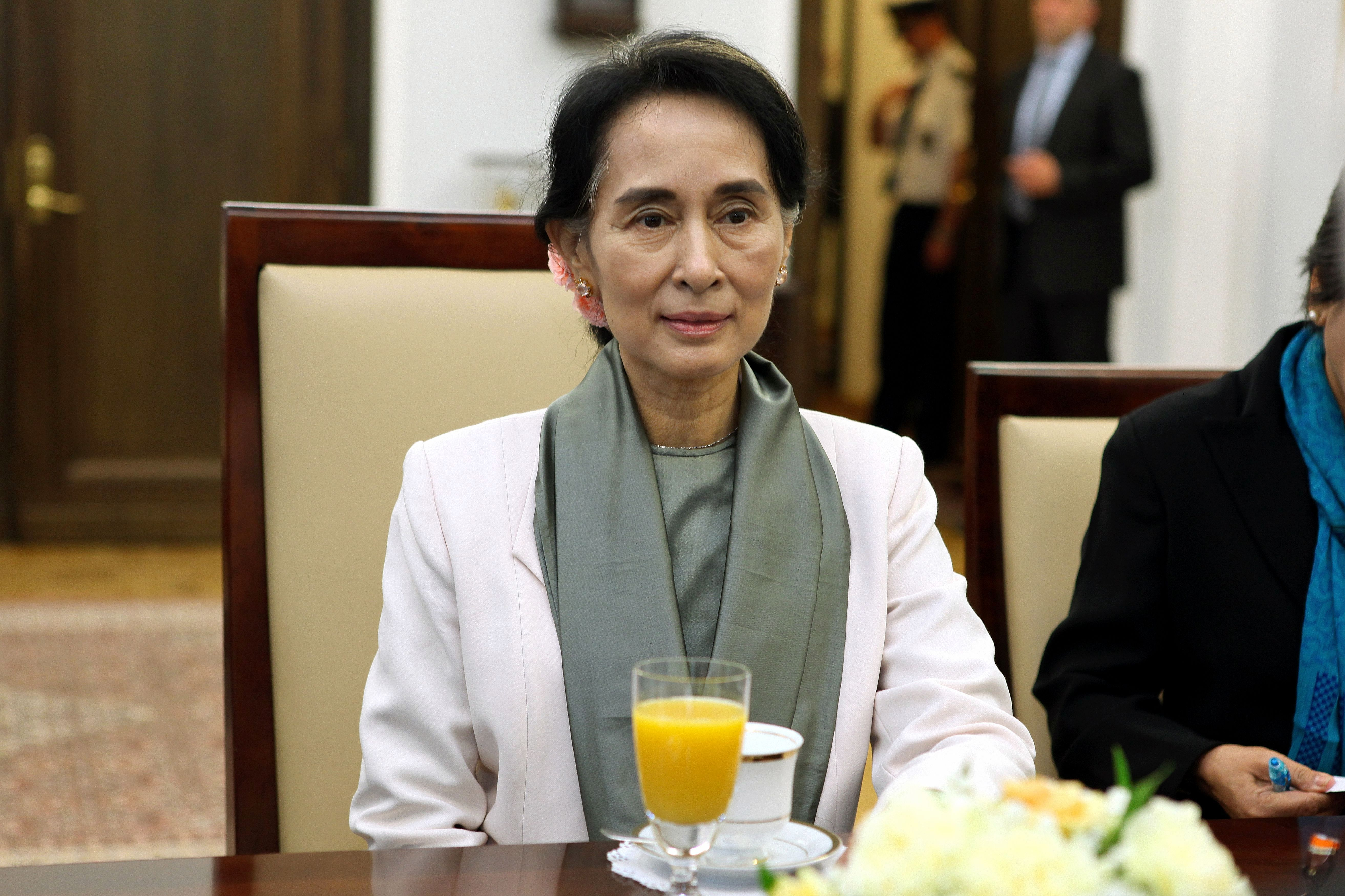 aung san suu kyi Myanmar's foreign minister and state counselor aung san suu kyi speaks  during the third session of the union peace conference in.