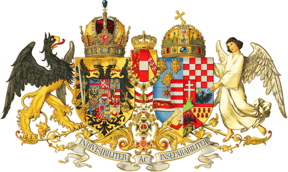 The coat of arms of Austria-Hungary