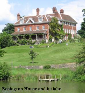 Benington house and its lake.JPG