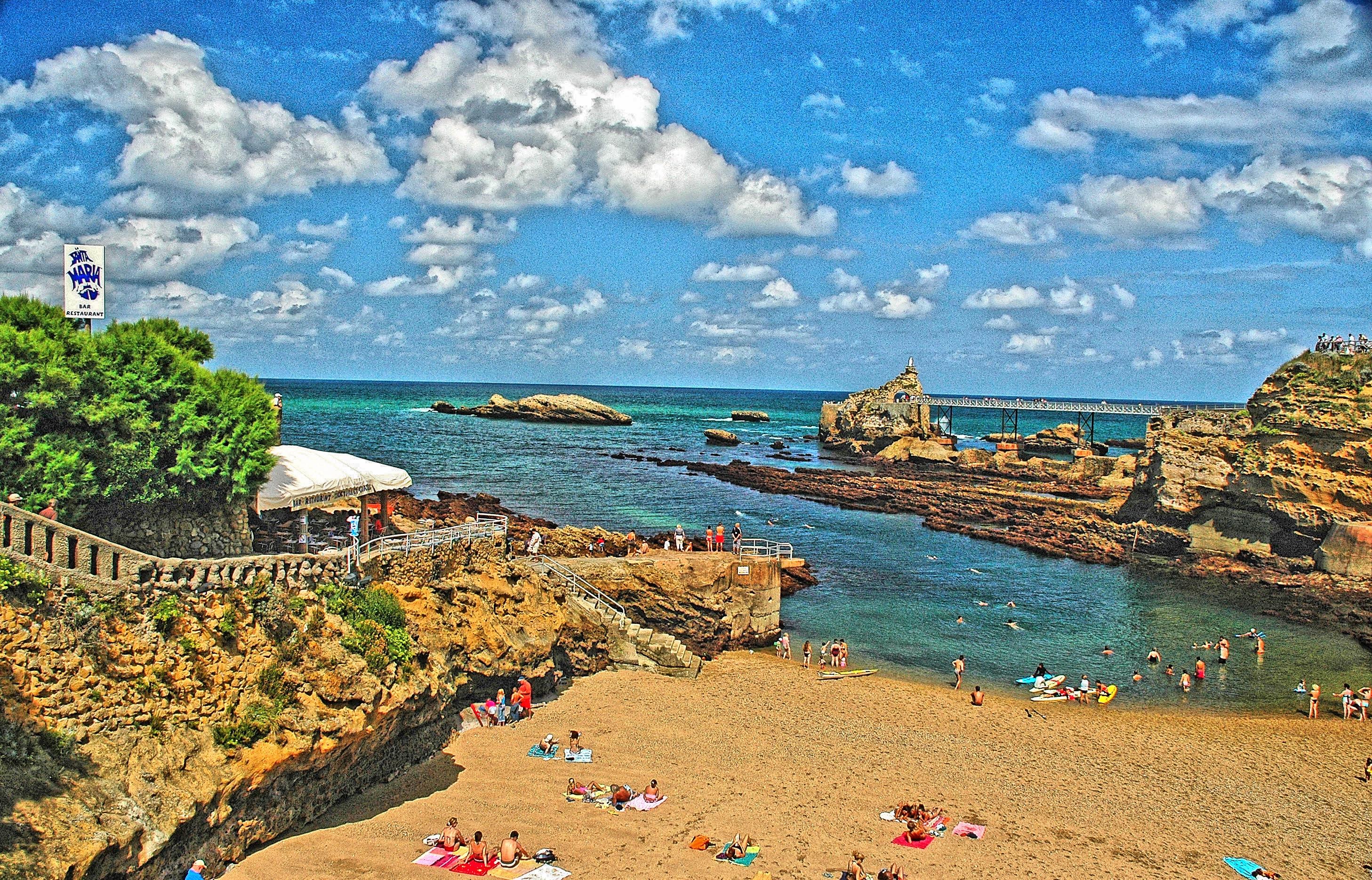 file biarritz plage du port vieux tone mapping jpg