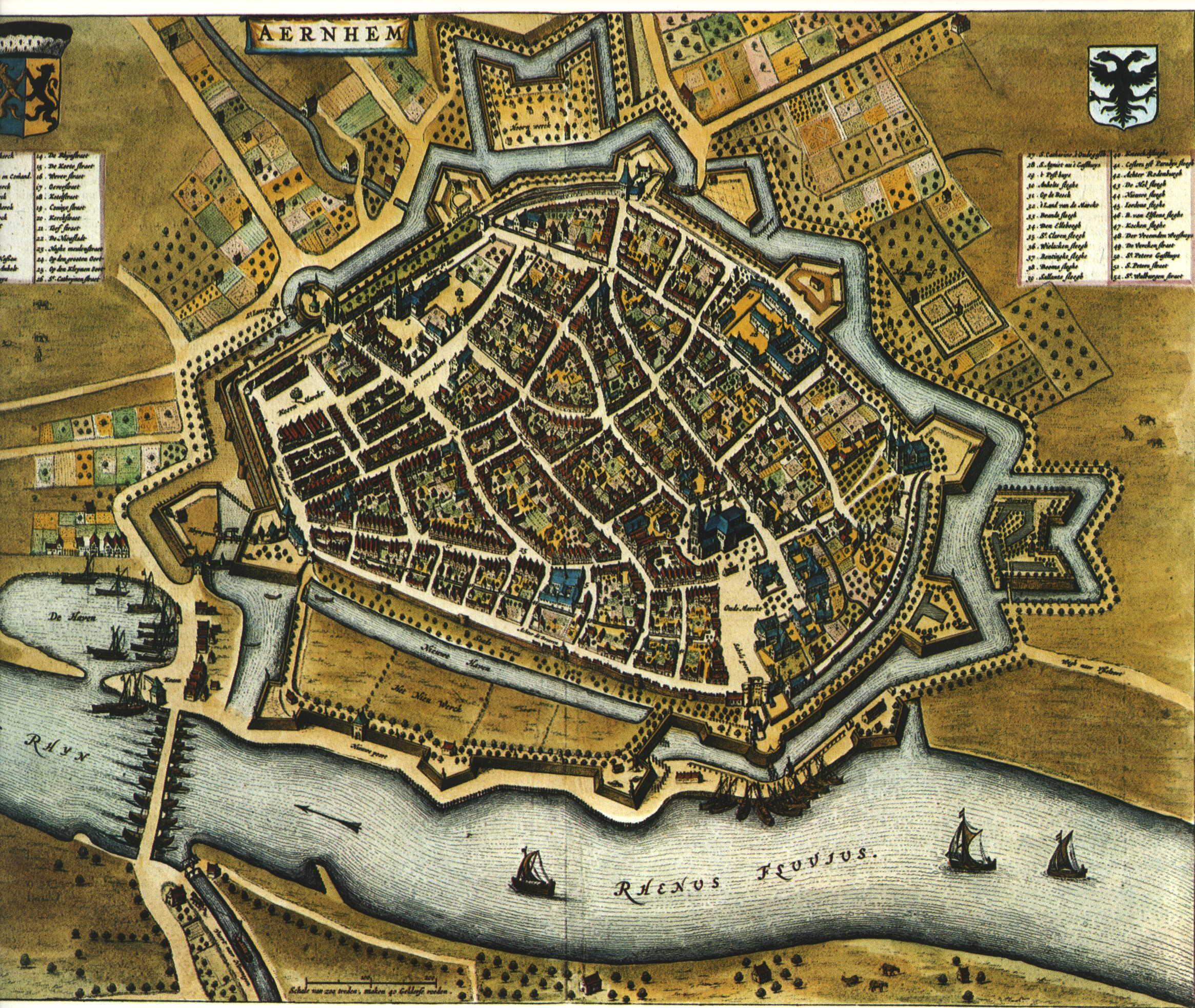 Kaart Blaeu Arnhem