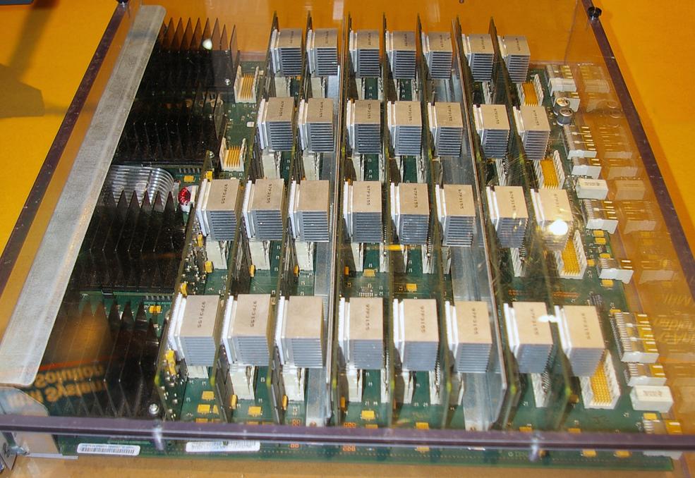 Blue Gene super computer has high density motherboards