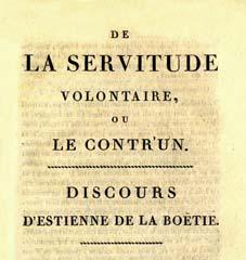 Discours de la servitude volontaire — Wikipédia