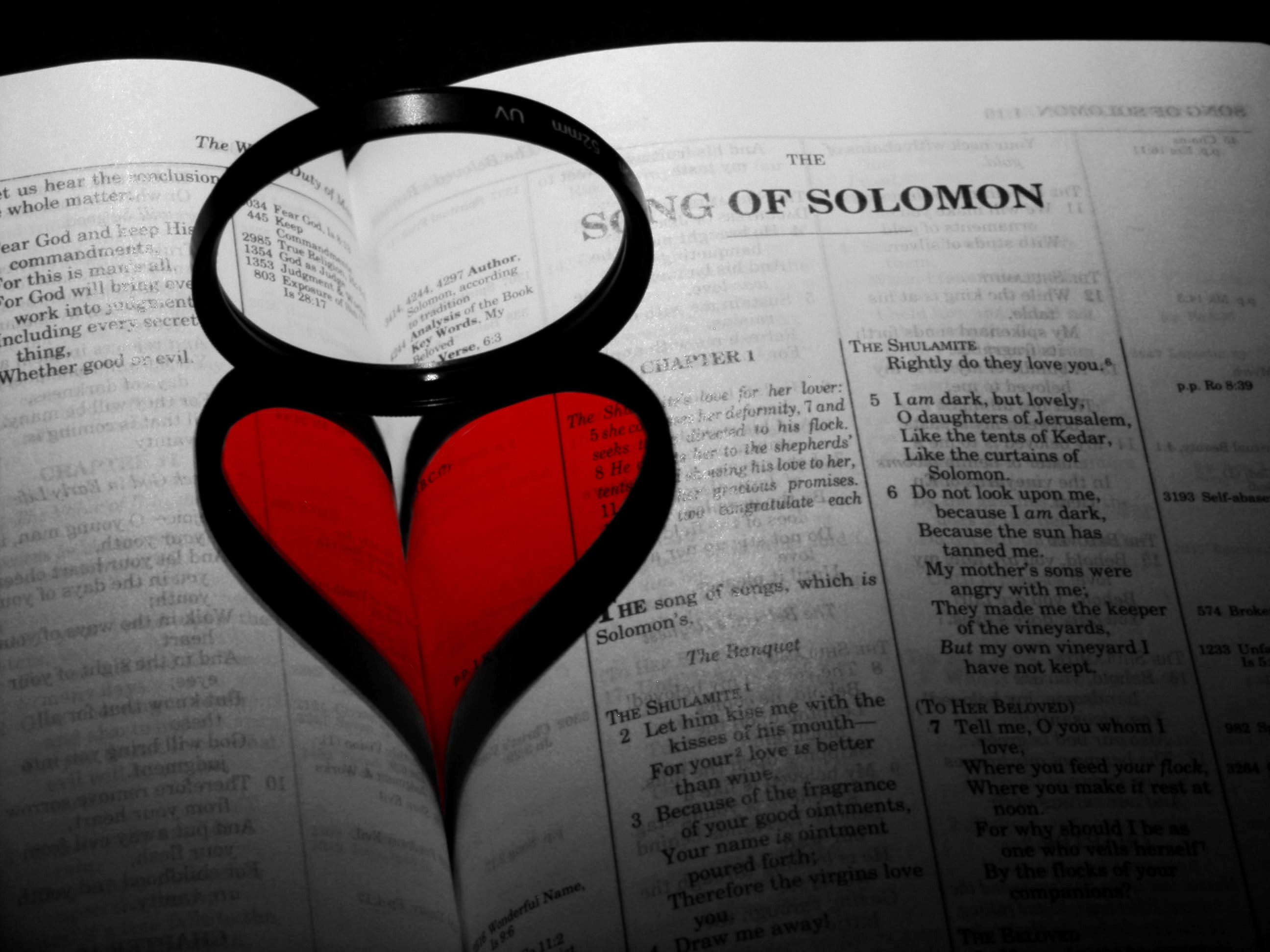 Bible open to Song of Solomon