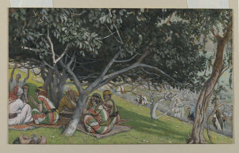 Brooklyn Museum - Nathaniel Under the Fig Tree (Nathanaël sous le figuier) - James Tissot - overall