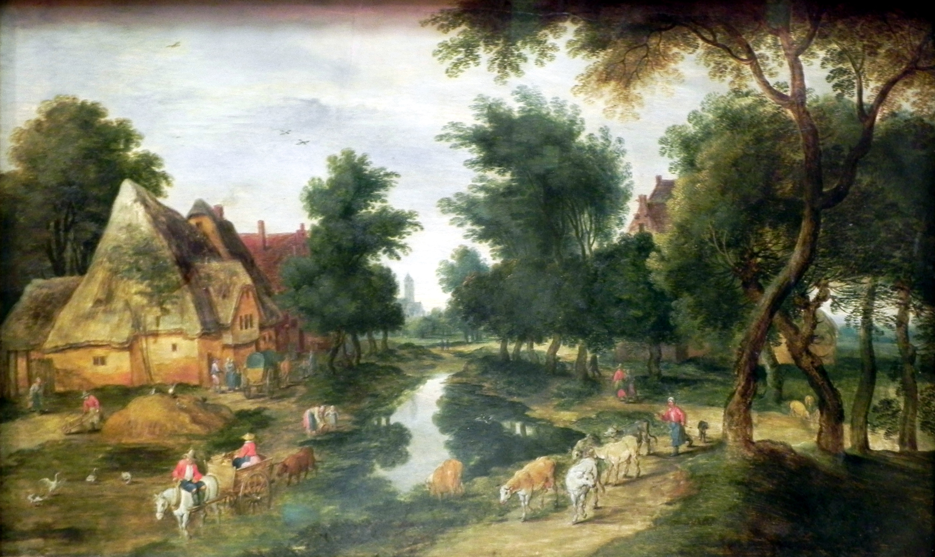 Jan Brojgel Mladji Brueghel_II_Jan_Dorfstra%C3%9Fe