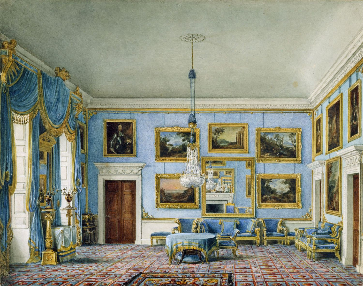 File buckingham house blue velvet room by charles wild for The blue room