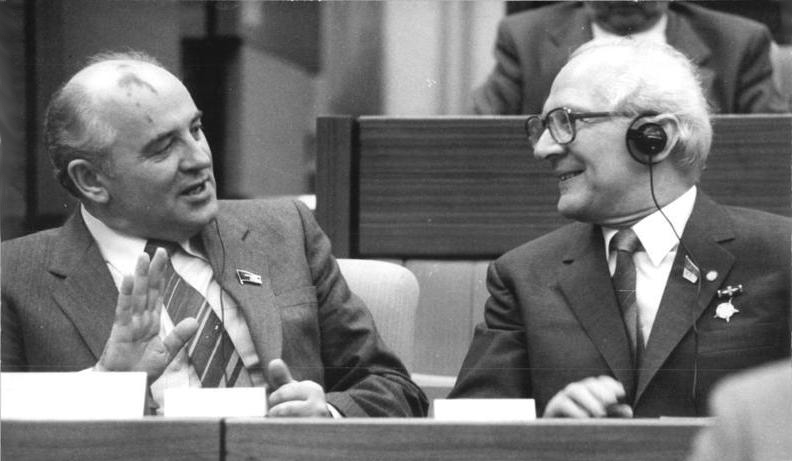 Gorbatchev meets with East German leader Erich Honecker