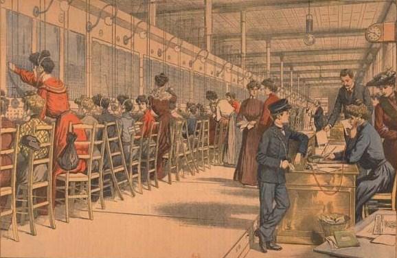 Файл:bureau téléphonique parisien vers 1900.jpg u2014 Википедия