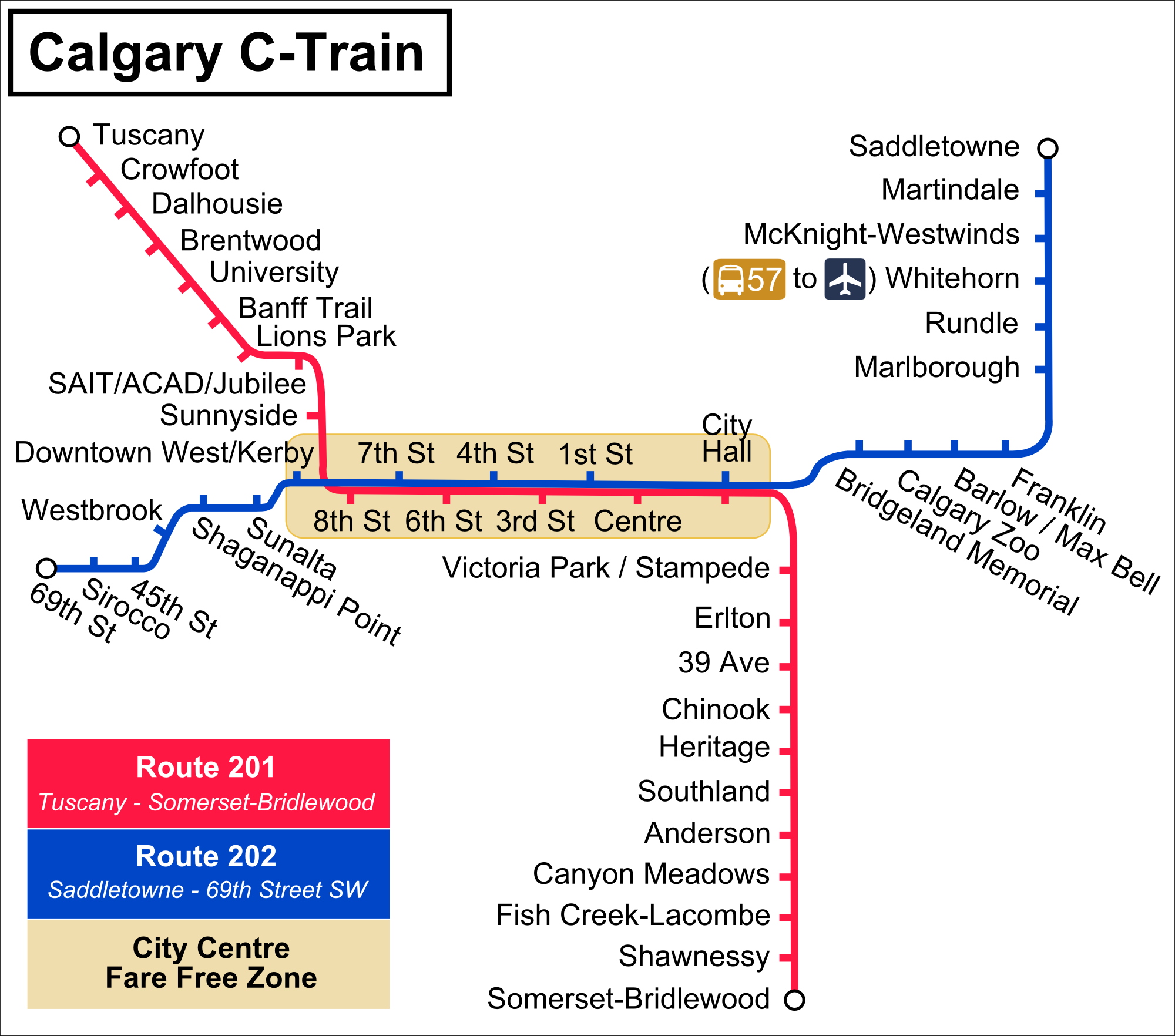 calgary transit route map pdf