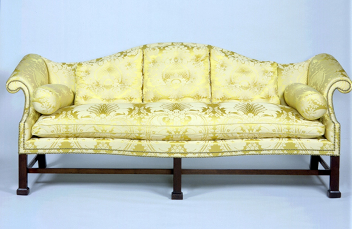 File:Chippendale Mahogany Camel Back Sofa Diplomatic Reception Rooms