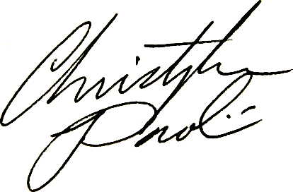 Christopher Paolini signature