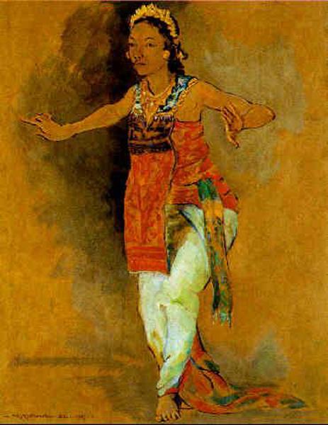 Czesław Mystkowski A Balinese dancer 1937.jpg