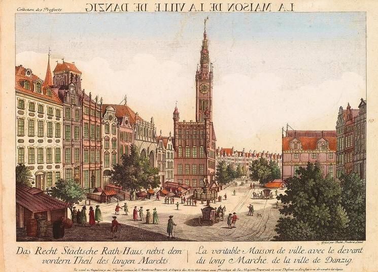 Danzig Rathaus Guckkastenblatt
