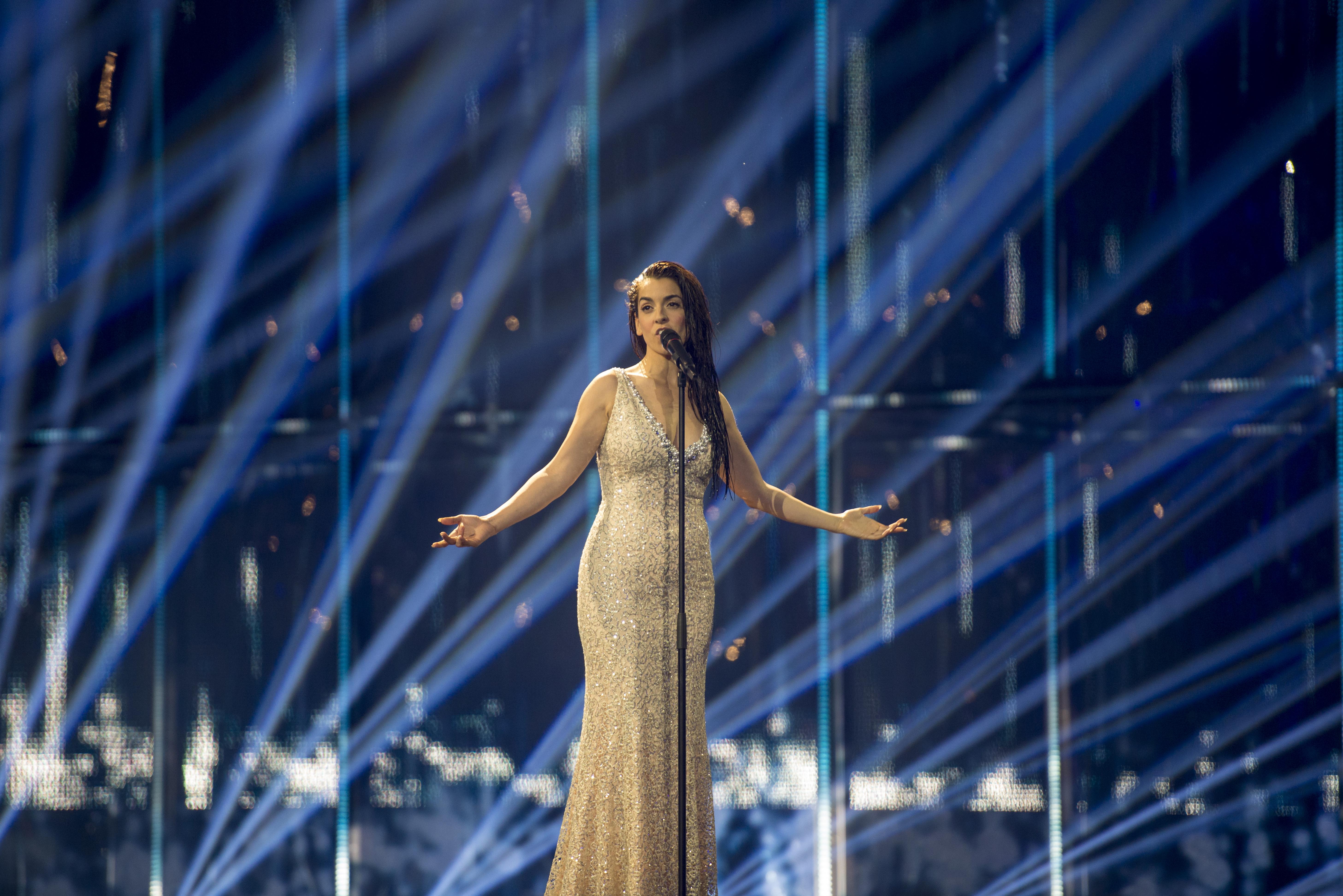 Ruth Lorenzo durante su actuación en el Festival de Eurovisión 2014.