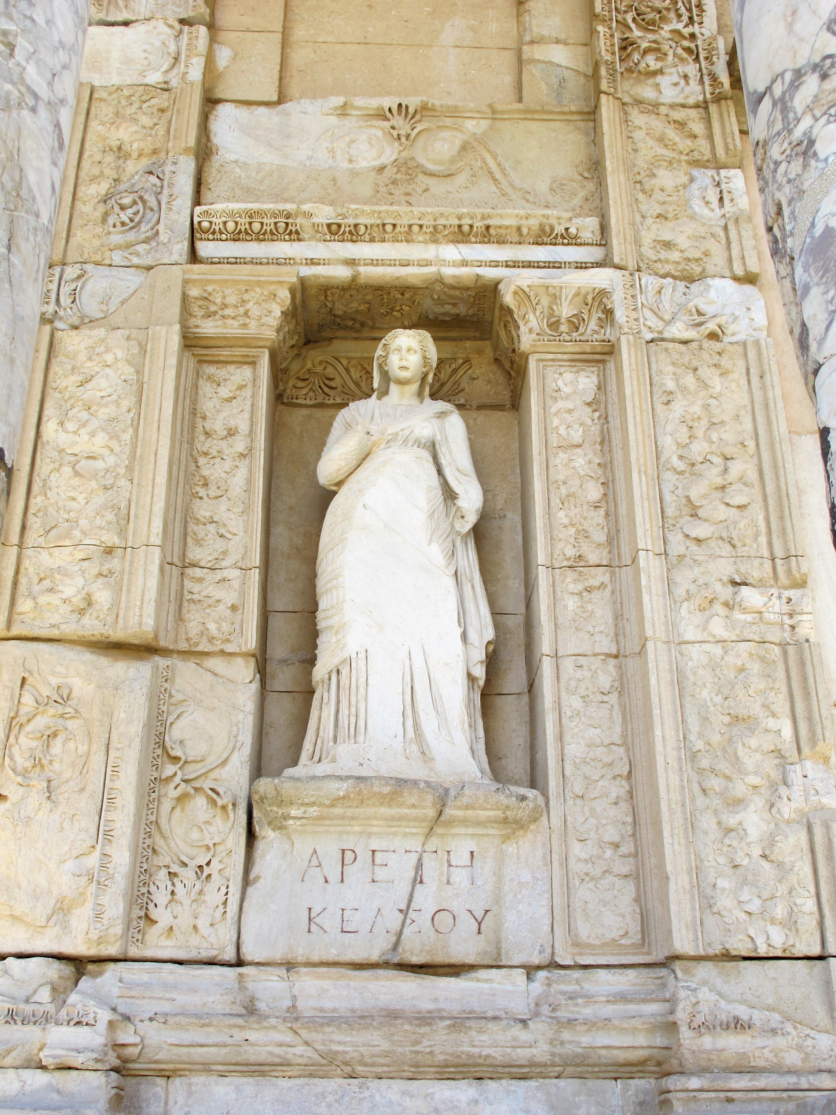 File:Efeso, biblioteca di celso 06 areti.JPG - Wikimedia Commons