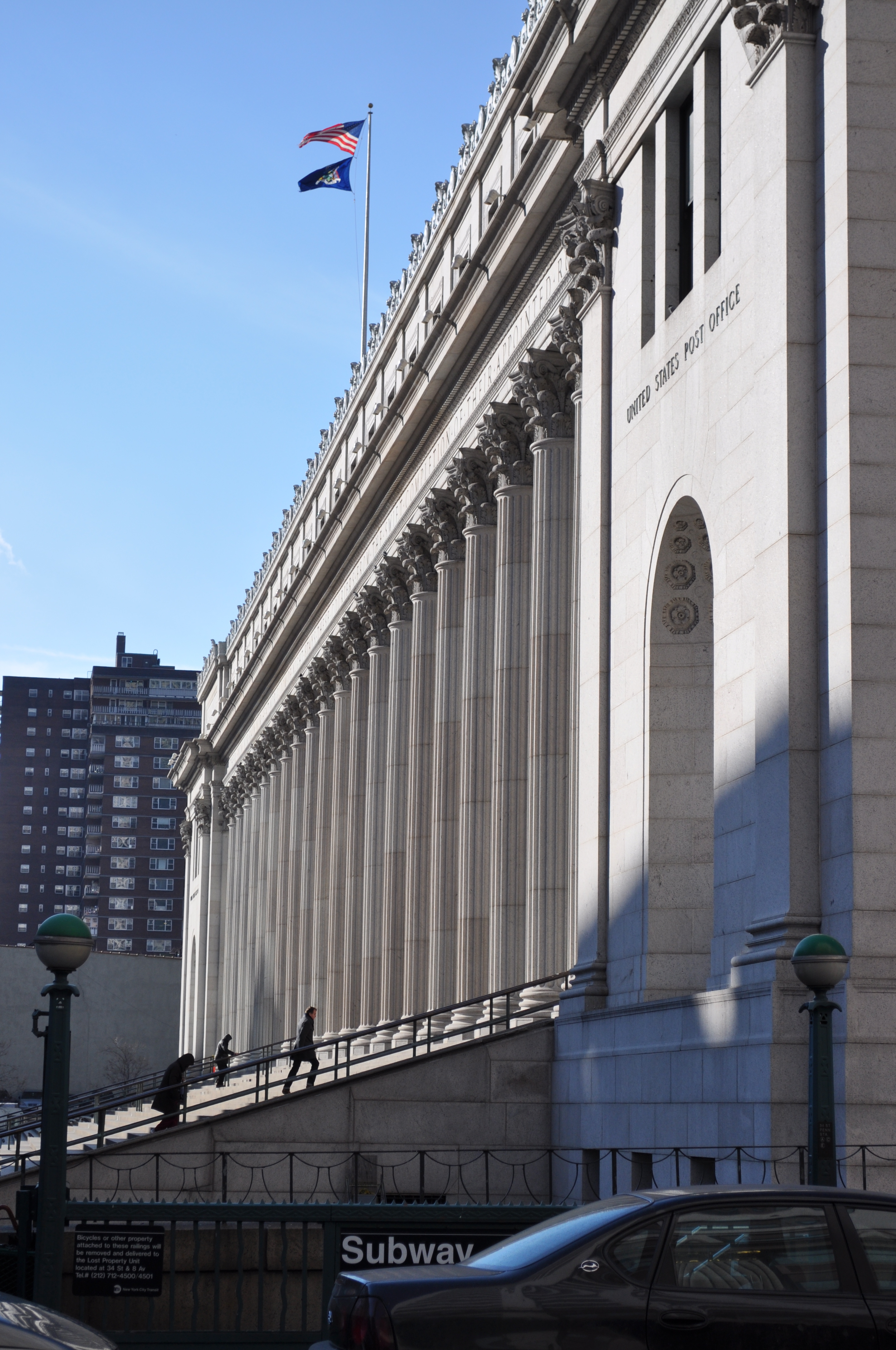 2011 Manhattan New York Trip: File:Entrance To James Farley Post Office, Manhattan (2011