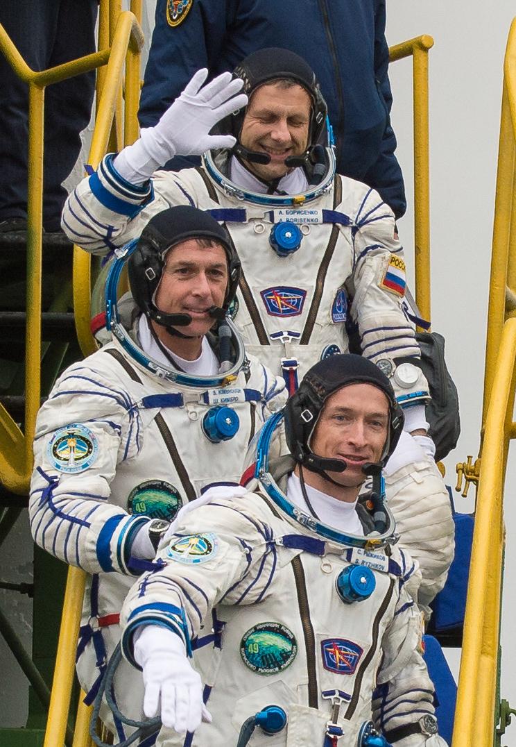 Soyuz MS-02 crew before launch