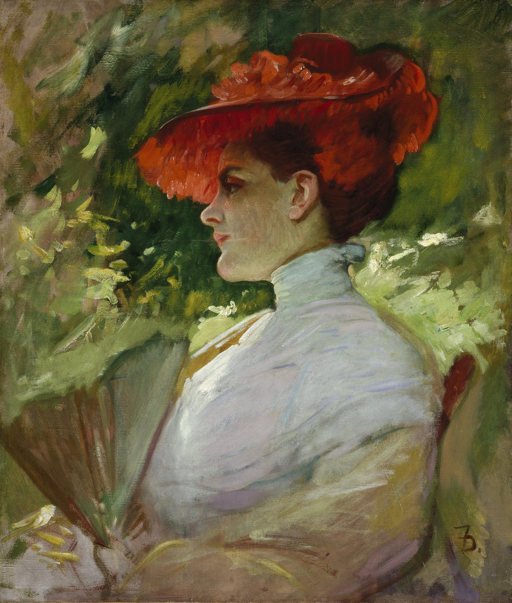 File Frank Duveneck Lady With A Red Hat Portrait Of